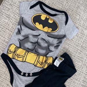 Batman Baby Onesie and Sweats! 3-6months